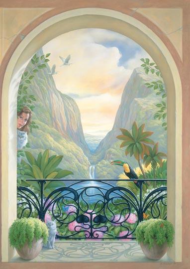Trompe L Oeil Malerei tor zum paradies trompe l œil fürs schwimmbad schwimmbad zu hause de