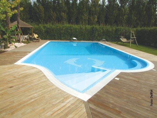 Folien f r eine kreative schwimmbad gestaltung for Pool mit folie auskleiden