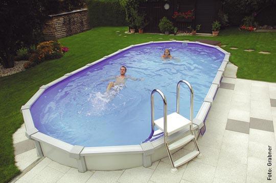 Einsteigen bitte g nstig zum eigenen schwimmbad for Stahlwandpool im garten
