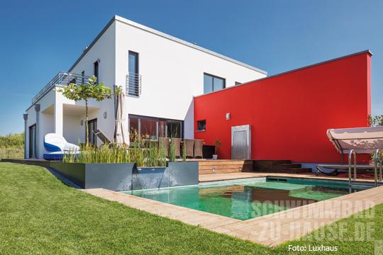 Fertighaus villa mit pool  Einmal Fertighaus mit Schwimmbad bitte.