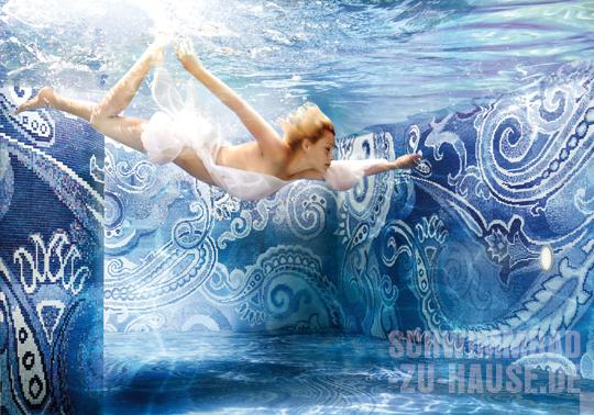 Fantasievolle beckenauskleidungen schwimmbad zu for Schwimmbad mosaik