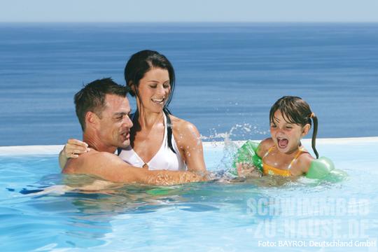 Schwimmbab-Wasserpflege