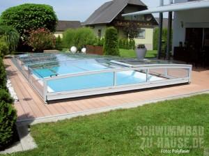 Glänzender Poolschutz