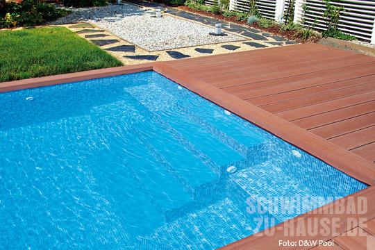 Optik die begeistert schwimmbad zu for Schwimmbad folienauskleidung