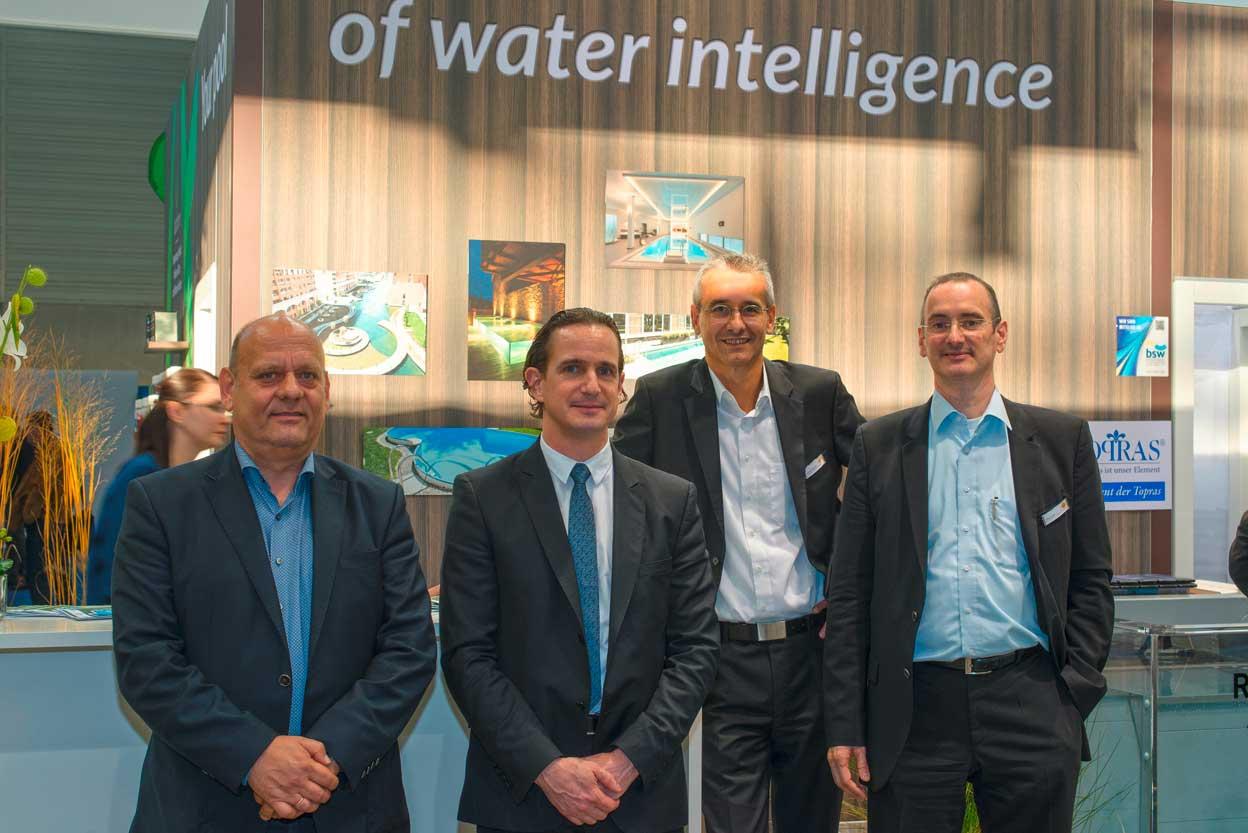 Von links nach rechts: Martin Meier: Balena / Cedrik Mayer-Klenk, Chemoform AG / Andreas Schmidt, dinotec GmbH / Ralph Ziegler dinotec GmbH