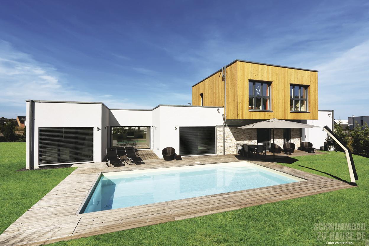Moderner Purismus | Schwimmbad-zu-Hause.de