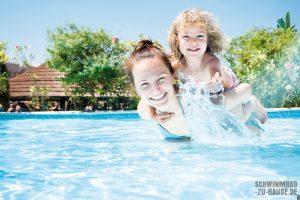 Sauberes Poolwasser