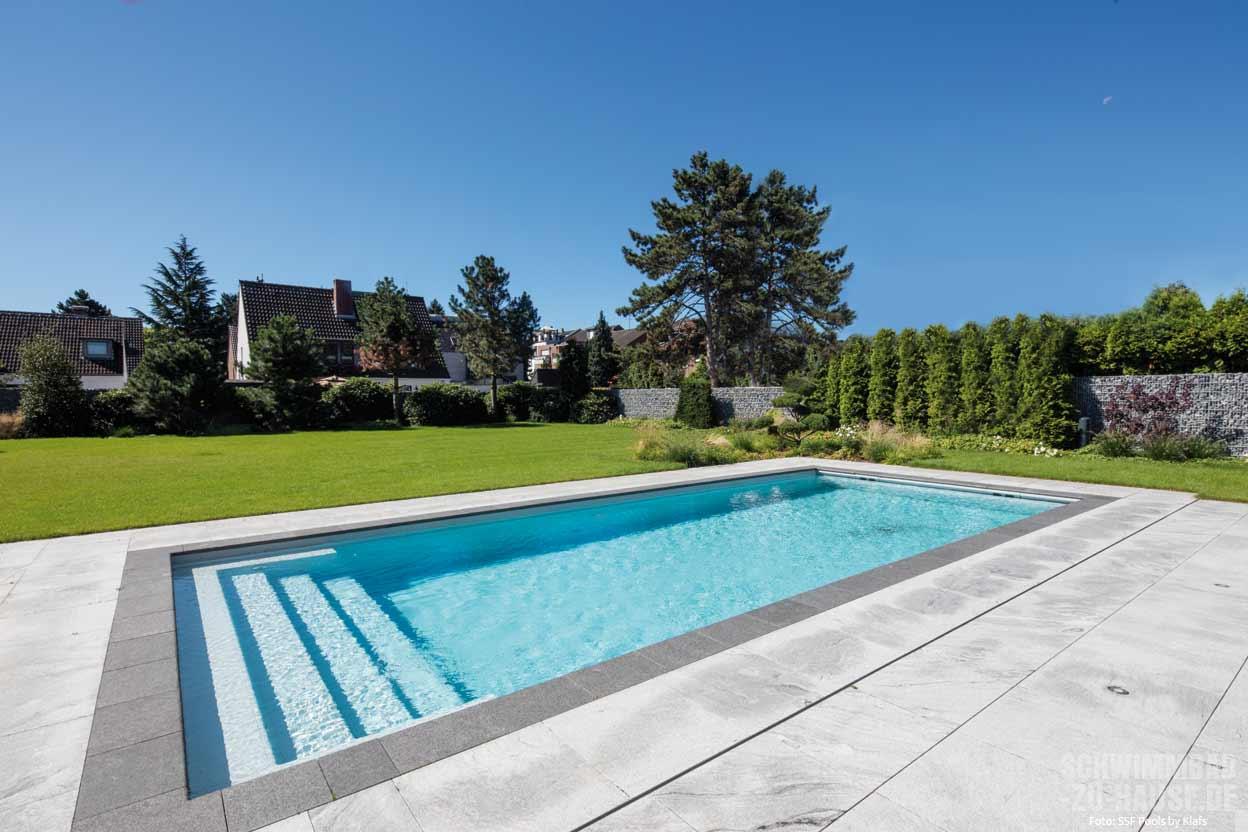 swimmingpool design ideen flachen, reine lehre | schwimmbad-zu-hause.de, Design ideen