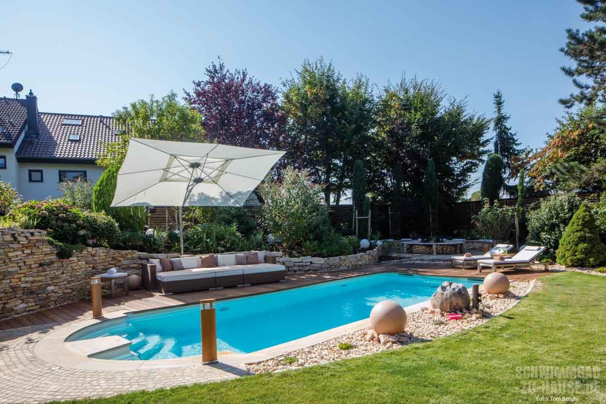 Zudem War Es Der Familie Wichtig, Dass Der Private Pool, Das Geliebte  Urlaubsfeeling Aus Der Toskana In Den Garten Transportiert.