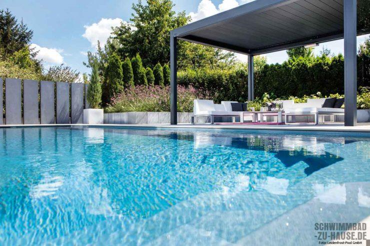 Outdoorwohnzimmer mit Pool