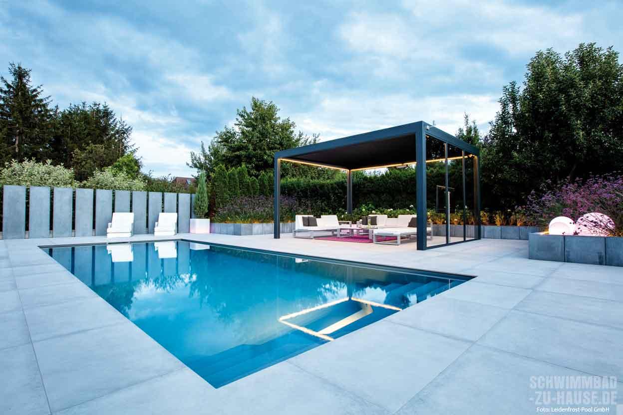 Outdoorwohnzimmer mit pool schwimmbad zu for Stahlwandbecken obi