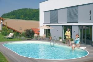 Badespaß im Folien-Schwimmbad