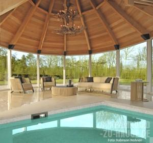 Elegante Indoor- und Outdoor-Lounge