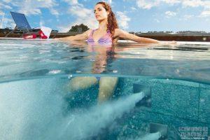 Wasserattraktionen im eigenen Schwimmbad